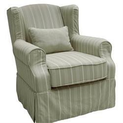 Armchair fabric beige-stripe