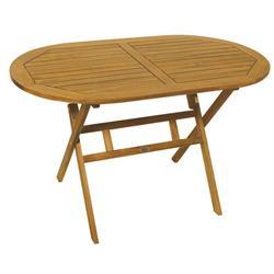 Τραπέζι οβάλ πτυσσόμενο Ακακία 70x120 εκ
