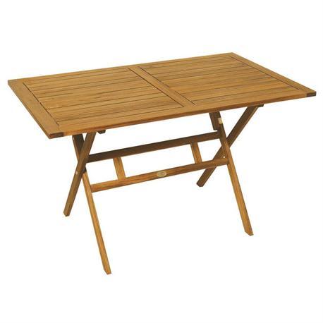 Rectangular folding table acacia wood 70x120 cm for Table cuisine 70 x 120