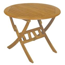 Τραπέζι στρογγυλό πτυσσόμενο Ακακία 60 εκ