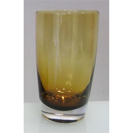 Handmade tube glass Irid Amber
