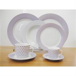 Dining set 20 pcs. Matrix Purpple
