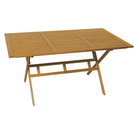 Rectangular folding table Acacia Wood 85x150 cm