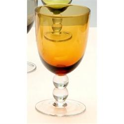 Water glass with ball Amber