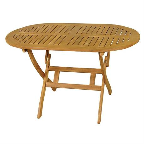 Oval folding table Acacia Wood 70x120 cm