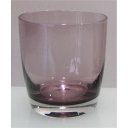 Whiskey glass Irid purpple