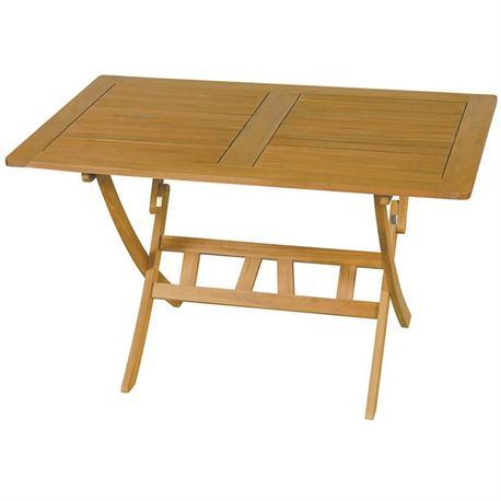 Rectangular folding table Acacia Wood 70x120 cm