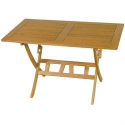 Τραπέζι παραλ/μο πτυσσόμενο Ακακία 85x150 εκ