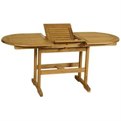 Extending oval table Acacia Wood 120+40x70 cm