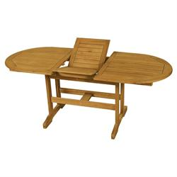 Extending oval table Acacia Wood 150+50x90 cm