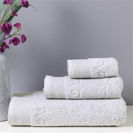 V19.69 Italia , Towel 100x150cm-ELEGANTE BAGNO Argento