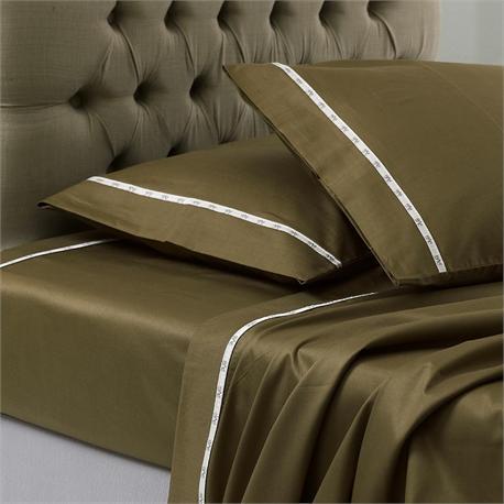 V19.69 Italia , Single bedsheet 190Χ280 cm-COLORI OLIVA