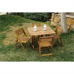 Dining set 5 pcs Acacia Wood