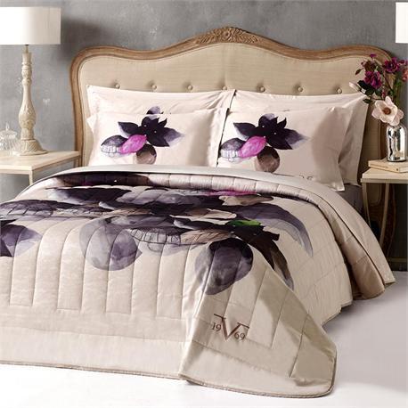 V19.69 Italia , Set bedsheets double 240Χ280+2 pillow cases-OXFORD-NINFEA