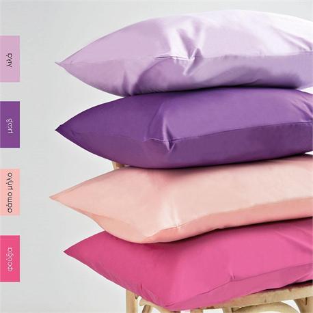 Pillow cases color 2- 50 Χ 70cm - BELLA Lilac