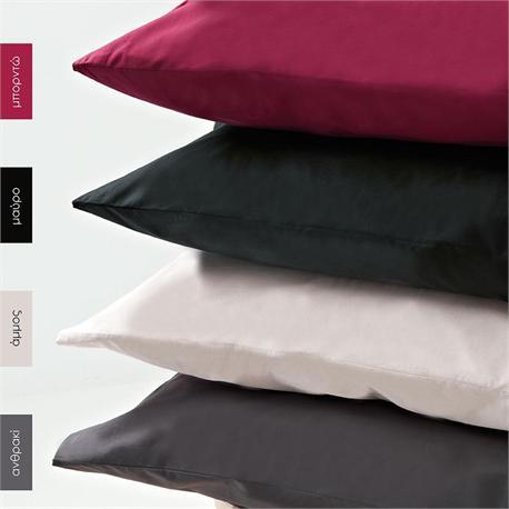 Pillow cases color 2- 50Χ70cm - BELLA Aubergine