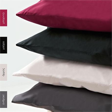 Bedsheet single 170 Χ 265 cm- BELLA Aubergine