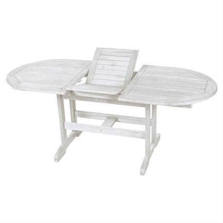 Extending oval table White 100x150+50 cm