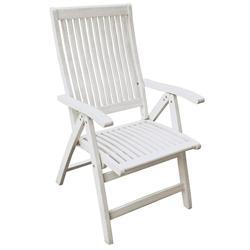 Πολυθρόνα πτυσσόμενη 5 θέσεων ψηλή πλάτη Λευκή