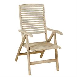 Folding armchair 5 positions high back Antique Sahara