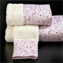 Set Towels printed finishing 3 Pcs.SARA CREAM