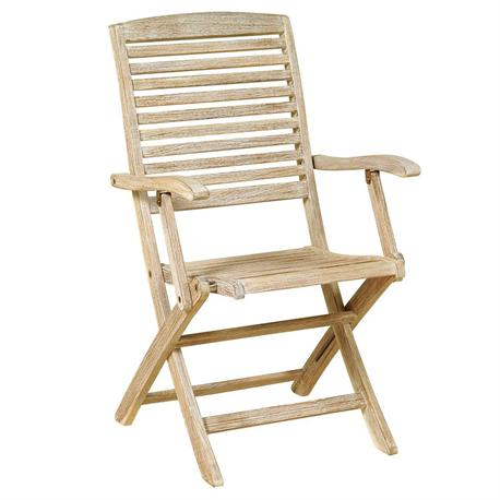 Folding armchair low back Antique Sahara