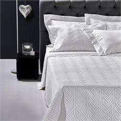 Set Bedspread+Set bedsheets double 7 Pcs. STRAND WHITE