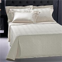 Set Bedspread+Set bedsheets double 7 Pcs. STRAND CREAM