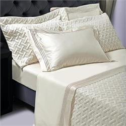 Set Bedspread+Set bedsheets double 7 Pcs. FLAX CREAM