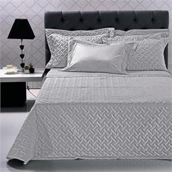 Set Bedspread+Set bedsheets double 7 Pcs. FLAX GREY