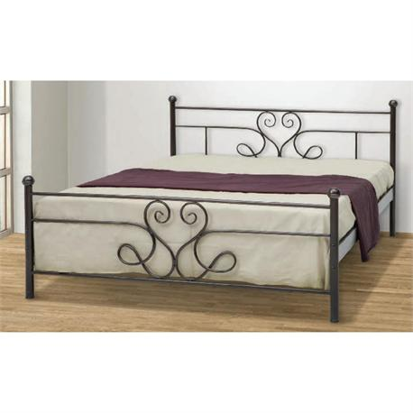 Iron Double bed SANTORINI 160X200 cm