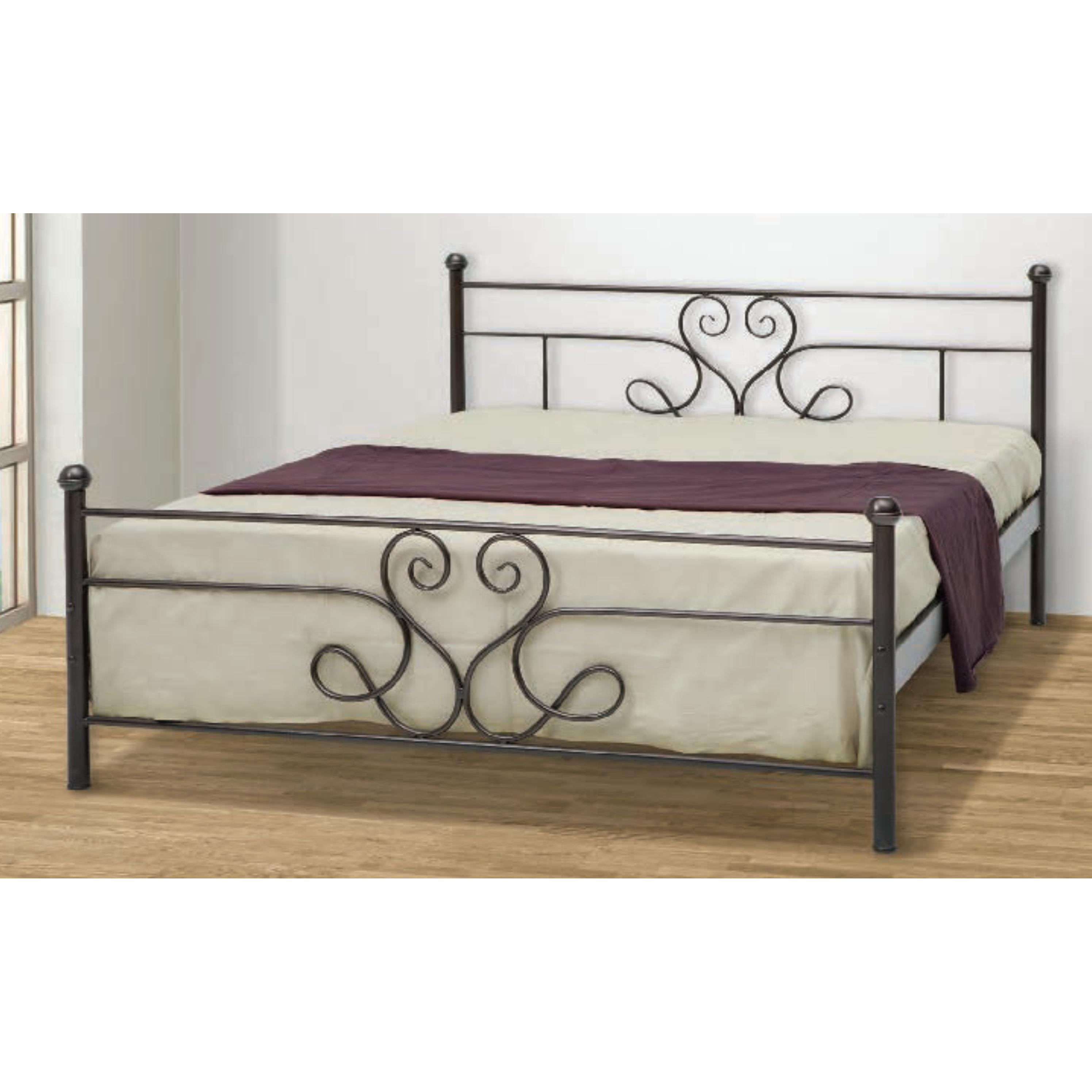 Iron single bed santorini 90x200 cm for Couch 90x200