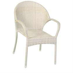 Stackable armchair Rattan