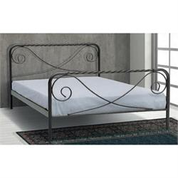 Iron Single bed SYROS 90X200 cm