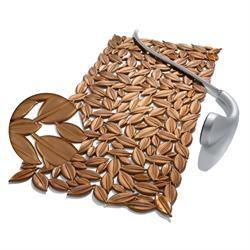 Αντιλιοσθητικό ταπέτο μπανιέρας σοκολά 35Χ73 cm