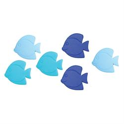 Small nonskid bath mat fish 6pcs.