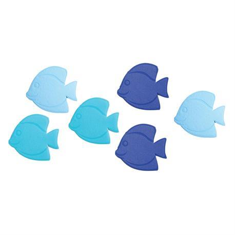 Small nonskid bath mat fish 6pcs.