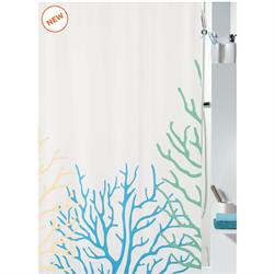 Fabric shower curtain coral 100% polyester 180X200 cm