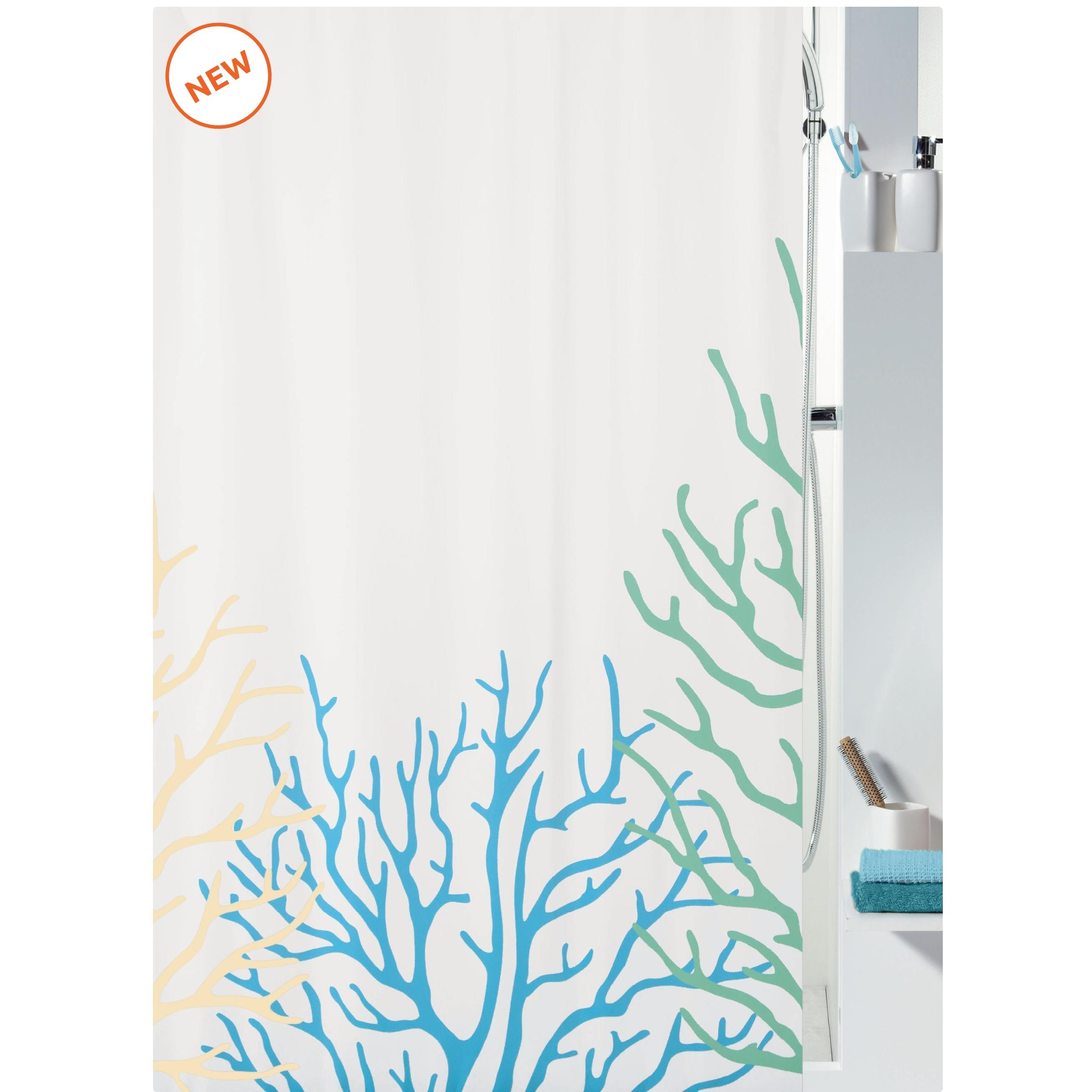 fabric shower curtain coral 100 polyester 180x200 cm. Black Bedroom Furniture Sets. Home Design Ideas