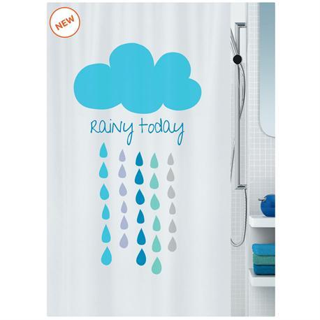 Υφασμάτινη κουρτίνα μπάνιου σύννεφα 100% polyester 180X200 cm