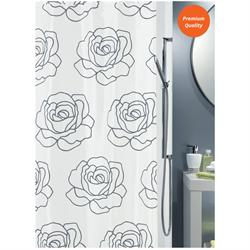 Fabric shower curtain rose 100% polyester 180X200 cm