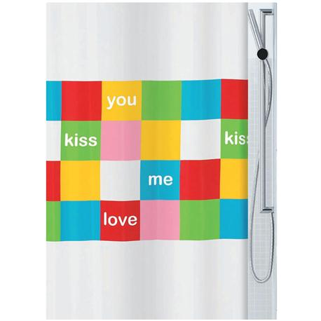 Fabric shower curtain color block 100% polyester 180X200 cm