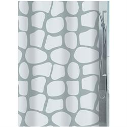 Fabric shower curtain pebble 100% polyester 180X200 cm