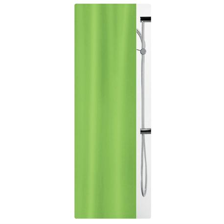 Fabric shower curtain green 100% polyester 180X200 cm