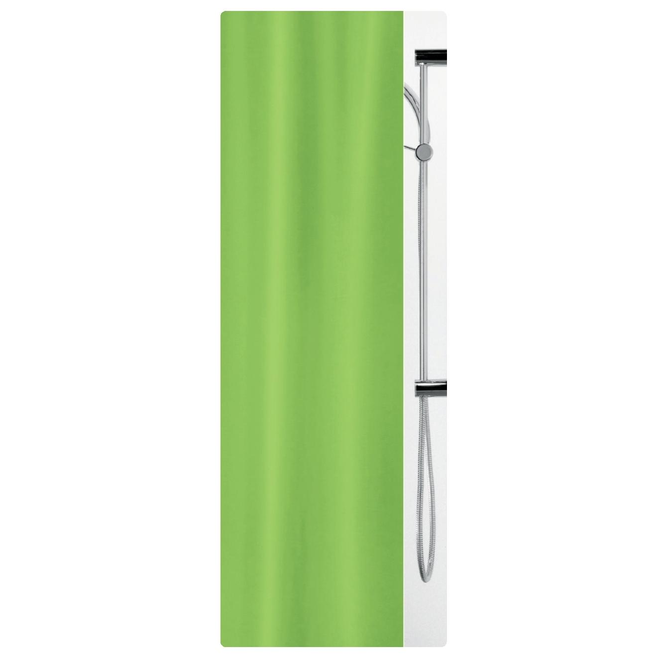 Fabric Shower Curtain Green 100 Polyester 180x200 Cm