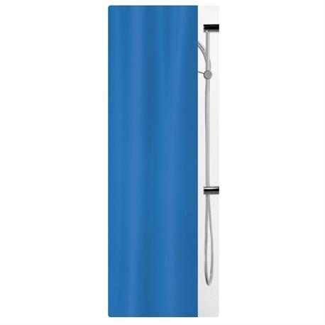 Υφασμάτινη κουρτίνα μπάνιου μονόχρωμη blue 100% polyester 180X200 cm