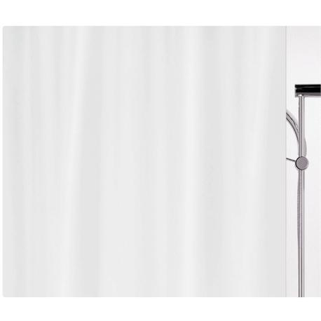 Fabric shower curtain white 100% polyester 240X180 cm