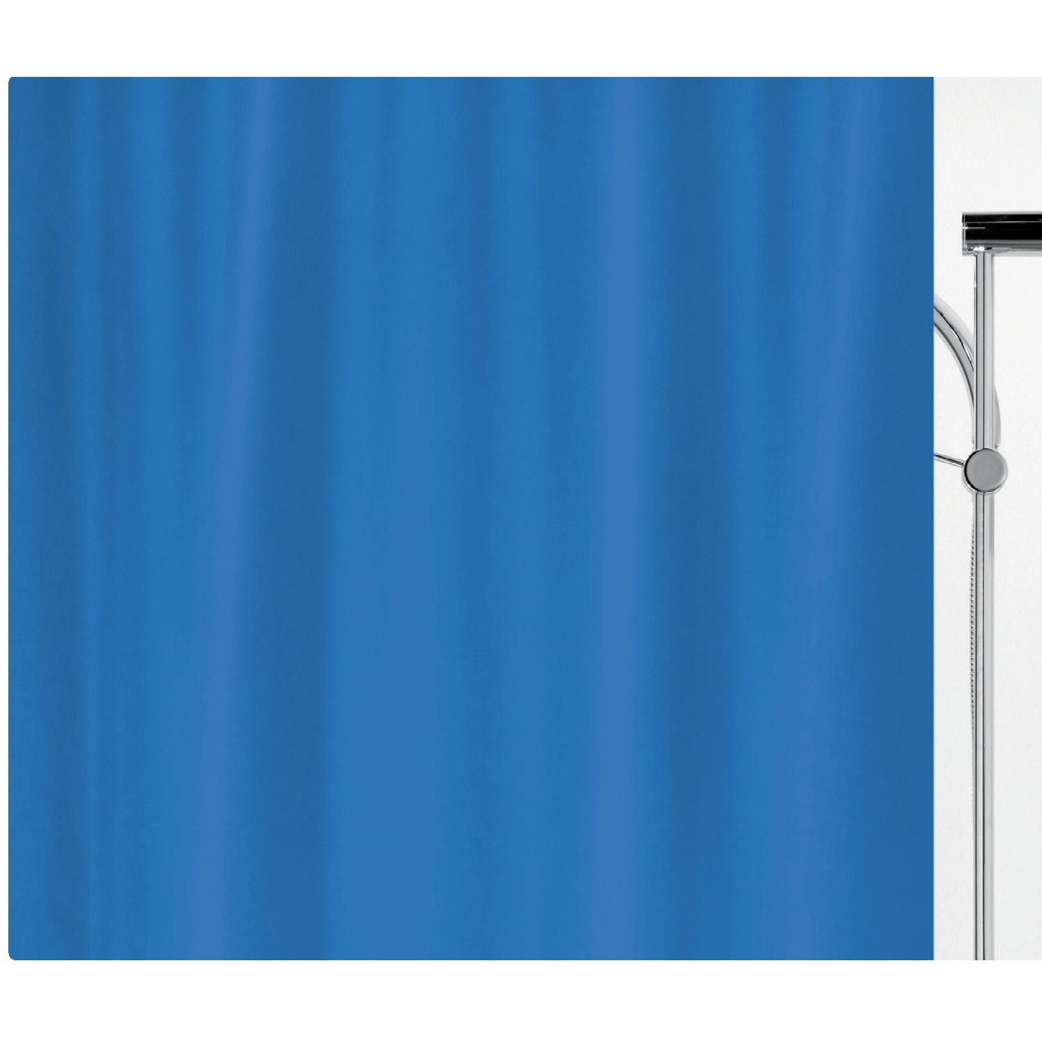 Fabric Shower Curtain Navy 100 Polyester 240x180 Cm