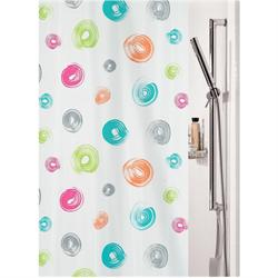 Fabric shower curtain circle 100% polyester 180X200 cm