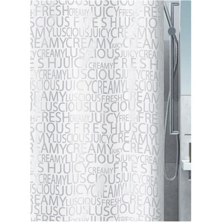 Fabric shower curtain letters 100% polyester 180X200 cm